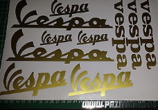 Vespa-10 assorted Stickers, GT, GTS, LX, ET, PX, GS, PK